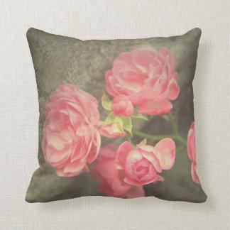 Piedras rosadas del gris de los rosas almohadas