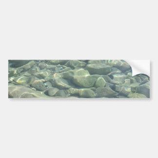 Piedras subacuáticas pegatina de parachoque
