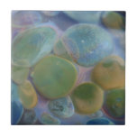 Piedras subacuáticas en colores pastel de cristal  azulejos cerámicos