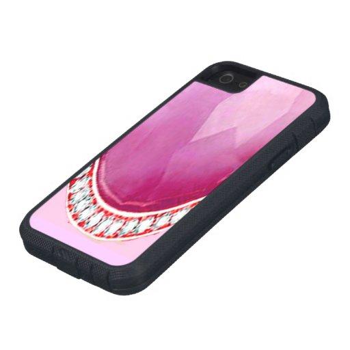 PIEDRAS Y DIAMANTES ROSADOS IPHONE 5 iPhone 5 CARCASA