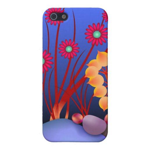 Piedras y flores iPhone 5 fundas
