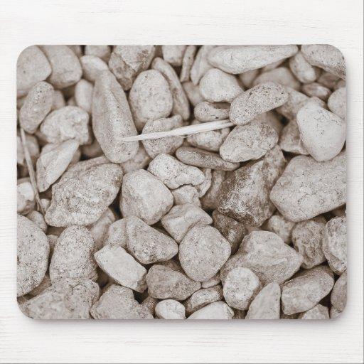 Piedras y madera alfombrillas de ratón