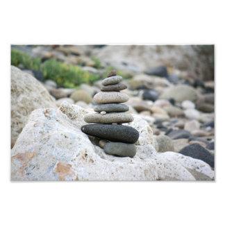 Piedras zen en la playa de Almería Cojinete