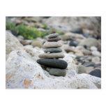 Piedras zen en la playa de Almería Postales