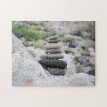 Piedras zen en la playa de Almería Puzzle