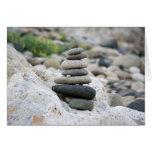 Piedras zen en la playa de Almería Tarjeta Pequeña