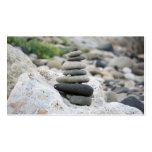 Piedras zen en la playa de Almería Tarjetas De Visita