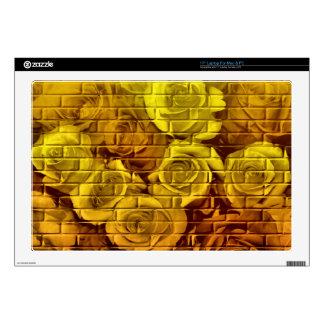 Piel 12-De oro-17in del ordenador portátil del Portátil Calcomanía