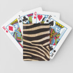 Piel 2 de la cebra cartas de juego