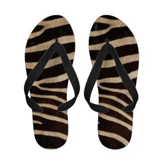 Piel 2 de la cebra sandalias de playa