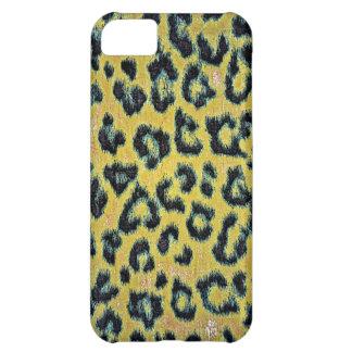 Piel 3 del leopardo del arte funda para iPhone 5C