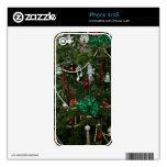 Piel 4/4S del iPhone del día de fiesta del navidad Calcomanías Para iPhone 4S