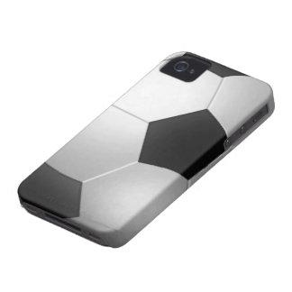 Piel 4S del iPhone 4 del fútbol iPhone 4 Case-Mate Cárcasa