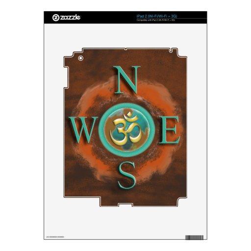 Piel abstracta de la tierra de OM Shanti para las  iPad 2 Skin