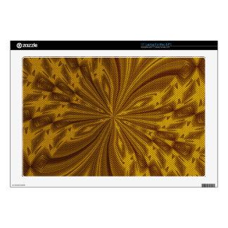 Piel abstracta del ordenador portátil del oro de calcomanías para 43,2cm portátiles