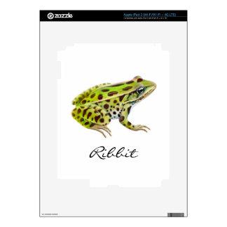 Piel adaptable de Zazzle de la rana de leopardo iPad 3 Skins
