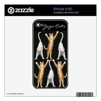 Piel adaptable de Zazzle de los gatos de la yoga iPhone 4S Calcomanía
