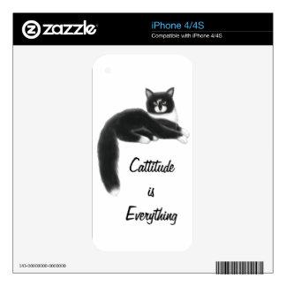 Piel adaptable de Zazzle del gato del smoking Skins Para eliPhone 4