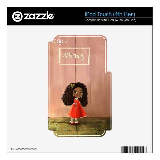 piel africana linda del tacto de iPod del chica de iPod Touch 4G Skins