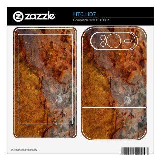 Piel aherrumbrada de HTC HD7 Skin Para El HTC HD7