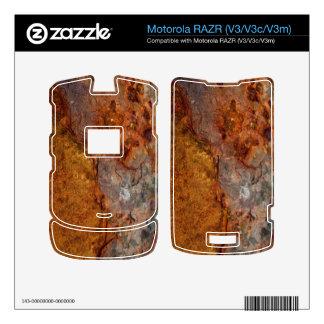 Piel aherrumbrada de Motorola RAZR V3 V3c V3m Motorola RAZR Skins