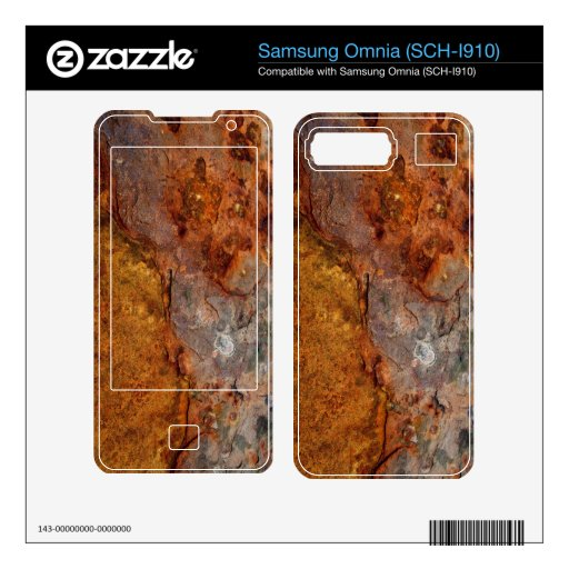 Piel aherrumbrada de Samsung Omnia (SCH-I910) Samsung Omnia Calcomanías