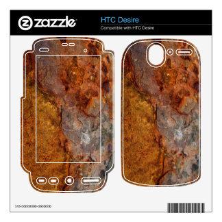 Piel aherrumbrada del deseo de HTC Skins Para elHTC Desire