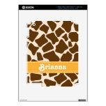 Piel amarilla del iPad 3 del estampado de girafa Pegatina Skin Para iPad 3