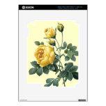 Piel amarilla del vinilo del iPad 3 de los rosas d iPad 3 Pegatina Skin