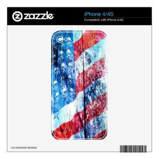 Piel americana del iPhone 4 del cráneo iPhone 4S Calcomanías