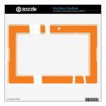 Piel anaranjada y blanca del libro de estrategias  BlackBerry PlayBook skin