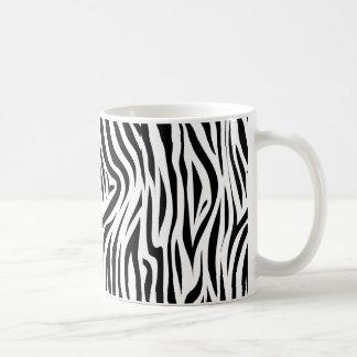 Piel animal del estampado de zebra elegante taza de café