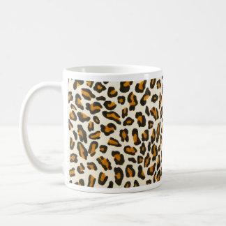 Piel animal del estampado leopardo taza de café