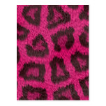 Piel animal rosada manchada postal