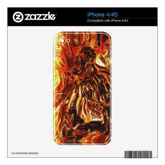 Piel ardiente del hombre calcomanías para iPhone 4S