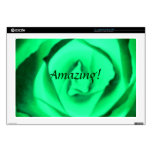 Piel asombrosa de Zazzle del rosa verde Skins Para 43,2cm Portátiles