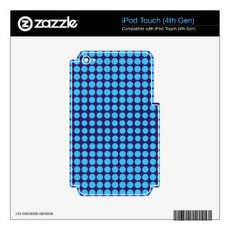 Piel azul clara y de los azules marinos de los iPod touch 4G skins