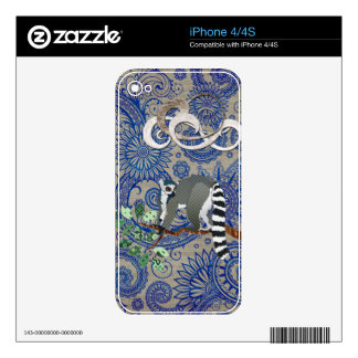 Piel azul de Boho del miembro de rey Julian Out On Skins Para eliPhone 4S