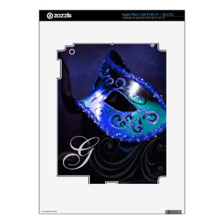 Piel azul de Ipad de la máscara de la mascarada de Pegatinas Skins Para iPad 3