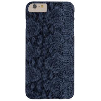 Piel azul de la serpiente funda para iPhone 6 plus barely there