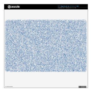 Piel azul del aire del mac del brillo de PAL Calcomanías Para El MacBook