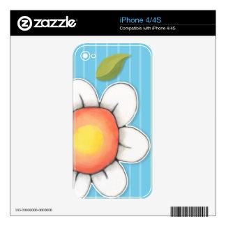 Piel azul del iPhone 4/4S de la alegría de la Calcomanías Para iPhone 4S
