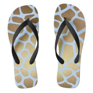 Piel azul elegante atractiva de la jirafa del chanclas