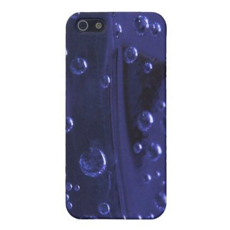Piel azul fresca del iPhone 4 de la burbuja iPhone 5 Protectores