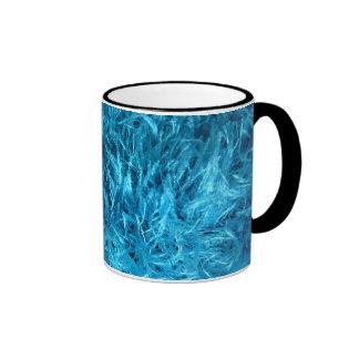 Piel azul mullida taza de dos colores