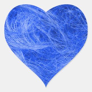 Piel azul pegatina en forma de corazón