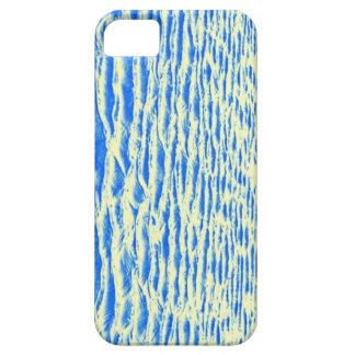Piel azul y amarilla del océano iPhone 5 funda