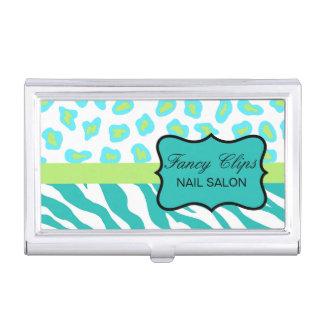 Piel azul y blanca del trullo de la turquesa de la cajas de tarjetas de presentación