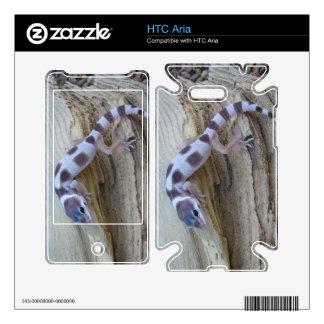 Piel blanca magnífica de la aria de HTC del Gecko  HTC Aria Calcomanías