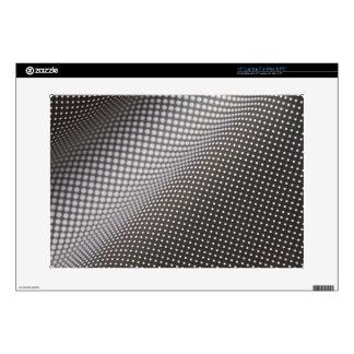 piel blanco y negro ondulada del ordenador portáti calcomanías para 38,1cm portátiles